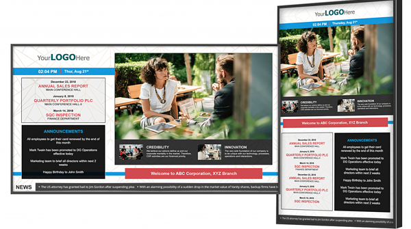 Right screen for the job: TVs vs. Digital Signage Signs – may customers end up using TVs, which can still be positioned horizontally or vertically based on your needs.