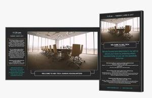 Corporation Digital Signage Example - Novisign - Liberty AV